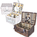 波帝莊園 夏日戶外郊遊野餐必備 手工籐編野餐籃 (2款任選)