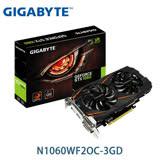 技嘉 N1060WF2OC-3GD 1797MHz/3GB GDDR5/192bit/2D1H1DP
