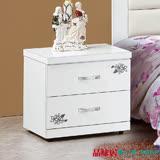【品味居】艾普比 時尚白1.6尺二抽床頭櫃/收納櫃/斗櫃
