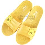 O〔小禮堂〕迪士尼 小熊維尼 塑膠拖鞋《黃.大臉》環保室內防滑