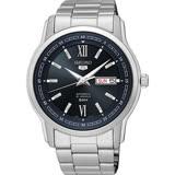 SEIKO 精工 五號盾牌 羅馬數字機械時尚腕錶/42mm/7S26-04T0D(SNKP17J1)