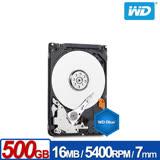 WD威騰 5000LPCX 藍標 500GB(7mm) 2.5吋硬碟