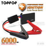 【 TOPPOP 】行動電源救援 智能夾 黑6000mAh SI-606