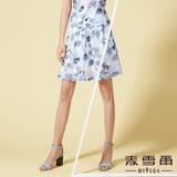 【麥雪爾】鏤空印花網格百摺短裙