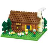 《 Nano Block 迷你積木 》【世界主題建築系列】NBH-151 瑞士小木屋