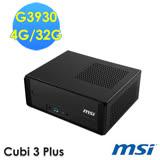 msi微星 Cubi 3 Plus-004TW G3930 WIN10 迷你電腦
