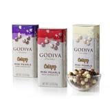【GODIVA】迷你脆心珍珠鐵盒巧克力豆禮盒-3入組
