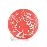下殺↘69〔小禮堂〕Hello Kitty 造型印泥盒《小.紅.坐姿.蝴蝶結.圓型》紅色印泥