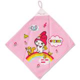 〔小禮堂〕美樂蒂 擦手巾《粉紅.彩虹》可寫名字