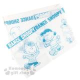 〔小禮堂〕史努比 身體沐浴巾《白.藍圖.跳舞》