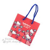 〔小禮堂〕Hello Kitty 方型紙袋《S.紅.點點蘋果》送禮包裝