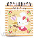 〔小禮堂〕Hello Kitty 線圈立體筆記本《橘白橫條.迷你.坐姿.廚師.蘋果》