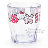 〔小禮堂〕Hello Kitty 日製透明塑膠杯《蘋果.牛奶》容量300ml