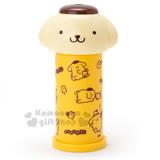 〔小禮堂〕布丁狗 造型按壓式棉花棒罐《黃.大臉》自動彈出棉花棒
