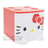 〔小禮堂〕Hello Kitty 桌上單抽積木收納盒《紅.大臉》可多個推疊