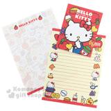 〔小禮堂〕Hello Kitty 信紙組《黃紅.水果.側坐.吊帶褲》
