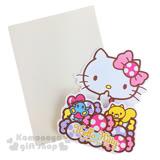 〔小禮堂〕Hello Kitty 造型萬用卡片《迷你.糖果.摸臉》附信封