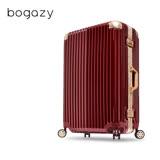 【Bogazy】迷幻森林 20吋鋁框PC鏡面行李箱(銀紅金)