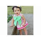 美國 RuffleButts 小女童甜美荷葉邊搖擺衣/洋裝  粉綠花園大蝴蝶結 (BRSW10)