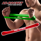 【AD-ROCKET】PRO FITNESS 橡膠彈力帶/拉力繩/阻力帶(紅色10-25磅)