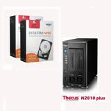 Thecus色卡司 2bay 多媒體NAS伺服器(N2810 Plus)+2顆 HGST 3.5吋 NAS硬碟 6TB (H3IKNAS600012872SWW)