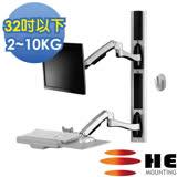 HE複合式工作站(H8822W) -螢幕雙臂/適用2~10公斤