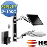 HE複合式工作站含主機架(H8822W-A) -螢幕雙臂/適用2~10公斤