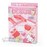 〔小禮堂〕Hello Kitty 迷你織布機玩具《粉.毛線.小熊.盒裝》適合6歲以上兒童