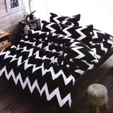 北歐極簡風-黑&白床包枕套組(全尺寸任選)
