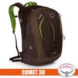 【美國 OSPREY】新款 Comet 30L 超輕多功能城市休閒筆電背包(附爆音哨+警示燈掛帶+可調腰帶)多口袋隔間設計/適自助旅行 蜥蜴綠 R