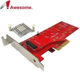 Awesome M.2 NVMe高功率SSD轉PCIe 3.0x4轉接卡-AWD-DT-129A