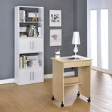 【空間生活】單抽屜電腦書桌-白橡色