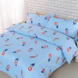 【BARNITE】天使之翼棉感絨四件式兩用被床包組-雙人