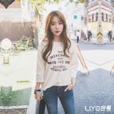 LIYO理優印花七分袖休閒上衣L642004