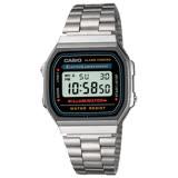 CASIO 卡西歐 日系-銀色復古風電子錶(A168WA)