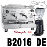 BEZZERA B2016 DE 營業用雙孔咖啡機+Fiorenzato F64E磨豆機 (HG1047+HG0935)