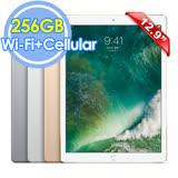 Apple iPad Pro 12.9吋 Wi-Fi+Cellular 256GB 平板電腦 -附玻璃保護貼+可立式皮套+指觸筆+Lightning加長充電線+耳機