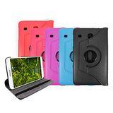 【送保護貼】 Samsung Galaxy Tab E 8.0 T3777 8吋旋轉皮套 (黑/紫/紅/玫紅/天藍)