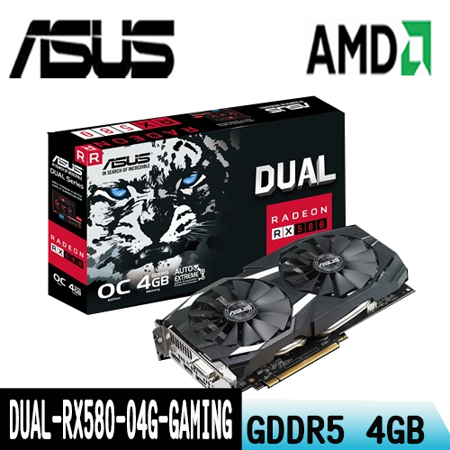 ASUS華碩 DUAL-RX580-O4G-GAMING -friDay購物 x GoHappy