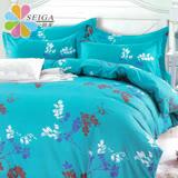 飾家《飄絮》頂級活性絲柔棉雙人兩用被床包組台灣製造