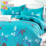 飾家《飄絮》頂級活性絲柔棉加大兩用被床包組台灣製造