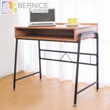 Bernice-凱爾線孔工作桌/書桌(柚木色)-DIY