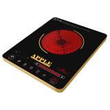【APPLE 蘋果】超薄觸控式不挑鍋電陶爐AP-i3818+烤盤組