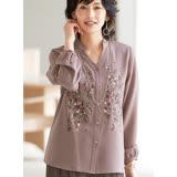 日本預購-portcros雅緻花朵刺繡襯衫(共二色/M-3L)