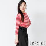 JESSICA - Paris 鐵塔條紋造型上衣(紅)