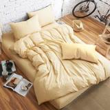舒柔時尚 精梳棉 二件式枕套床包組 單人 米黃 生活提案