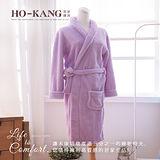 HO KANG 飯店專用睡浴袍-紫-M