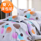 【J-bedtime】雙人三件式雲絲絨床包枕套組-幸福約定(任)
