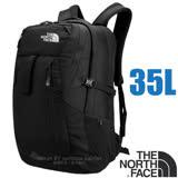 【美國 The North Face】新款 ROUTER 抗撕裂多功能後背包35L(YKK拉鍊+求生哨 電腦書包 可容17吋筆電 可快速取放) CLH3 黑 N