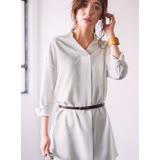 日本ANNA LUNA 預購-附皮帶長版折縫襯衫(共四色/M-3L)